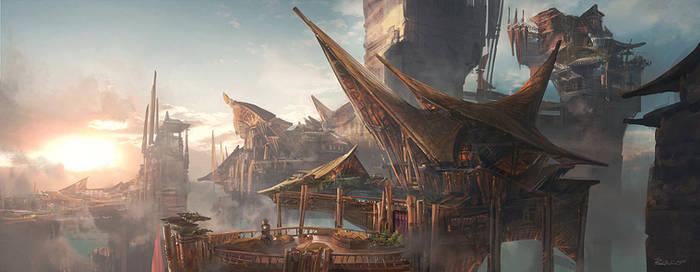 Tribe World cityscape
