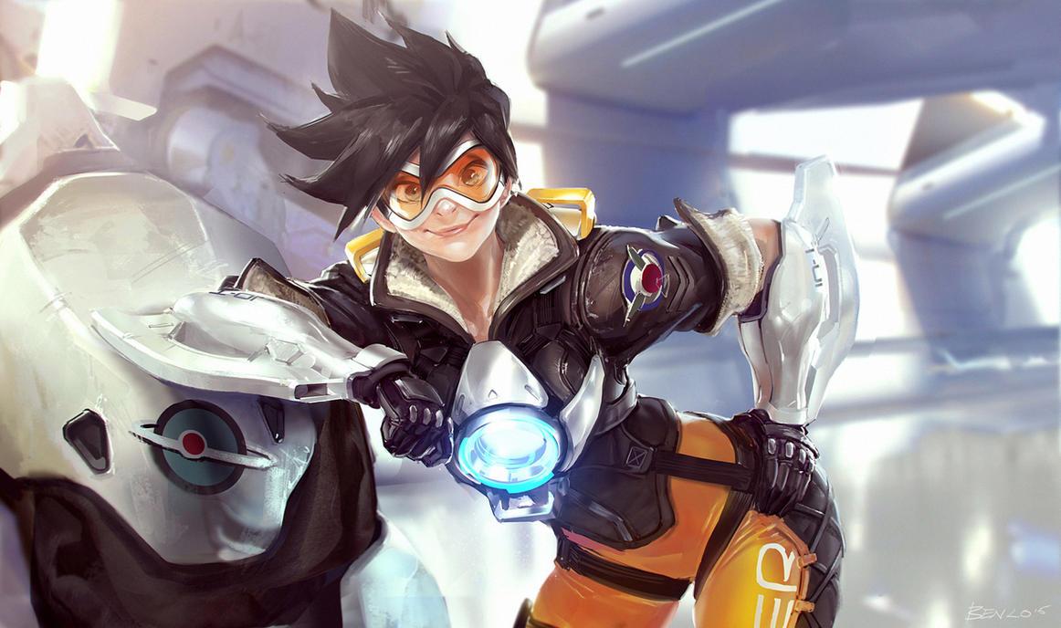 Overwatch: Tracer fanart! by Benlo