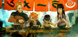 Naruto fan art - Ramen stand