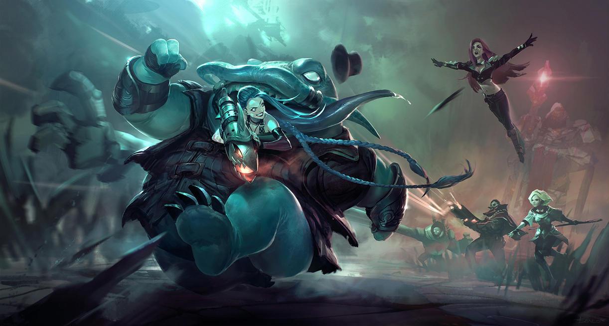 League of Legends Fan art - Tahm Kench Retreat!! by Benlo