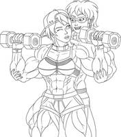 At the Gym (Lineart) by Yixteck