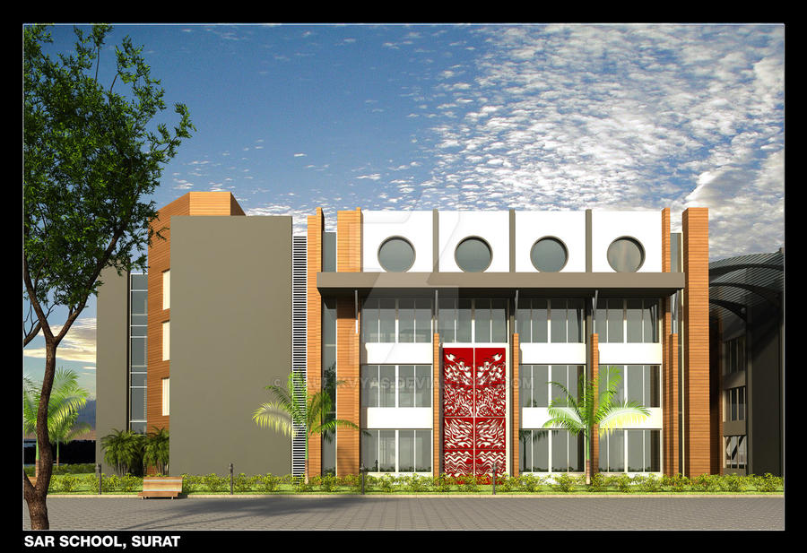 D Front Elevation Of School : School elevation by maulikvyas on deviantart