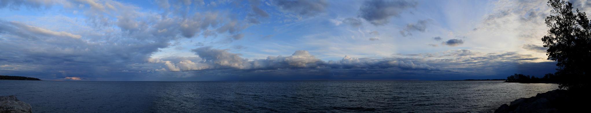 Lake Ontario Panorama by WildPencil