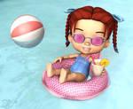 Nina at the Pool