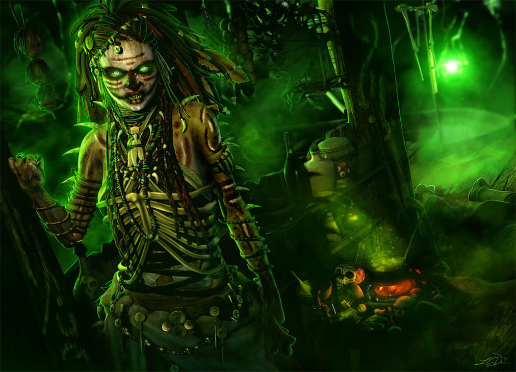 The Bog Shaman by cylithera