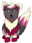 Wolf pup Adoptable sold to KuroToraWolf by Airy-Styles