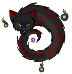 Mini Cat Demon for wolftales1 by Airy-Styles