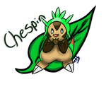 Chespin eating cookie