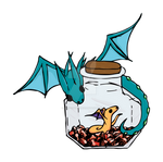 Mother Wind Drake and Baby in a bottle Sticker V1