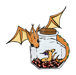 Mother Wind Drake and Baby in a bottle Sticker V2