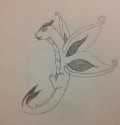 Butterfly Dragon Sketch