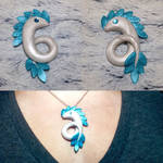 Serpent Drake Large Necklace Charm