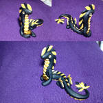 Glitter Black and Gold Earth Dragon