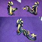 Glitter Black and Gold Earth Dragon