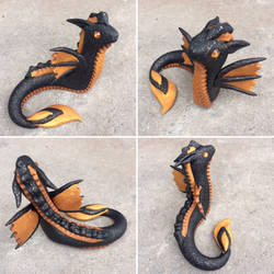 Black and Gold Water Dragon