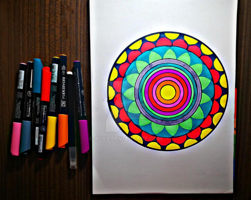 My first mandala  by Alv8