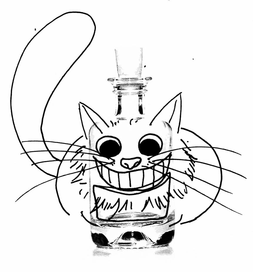 Le Chat and the  bottle by CassandreLucas