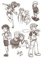 Destiel - doodles2 by msloveless