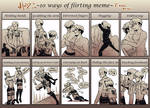 10 Ways Of Flirting Meme Eruri
