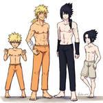 Naruto and Sasuke - 5 years later