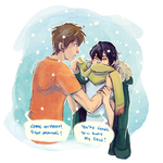 MakoHaru - On a Snow day