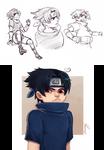 Uchiha Sasuke Doodles 01
