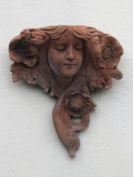 Art Nouveau Beauty Plaque