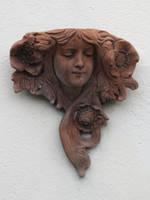 Art Nouveau Beauty Plaque by MagpieMagic