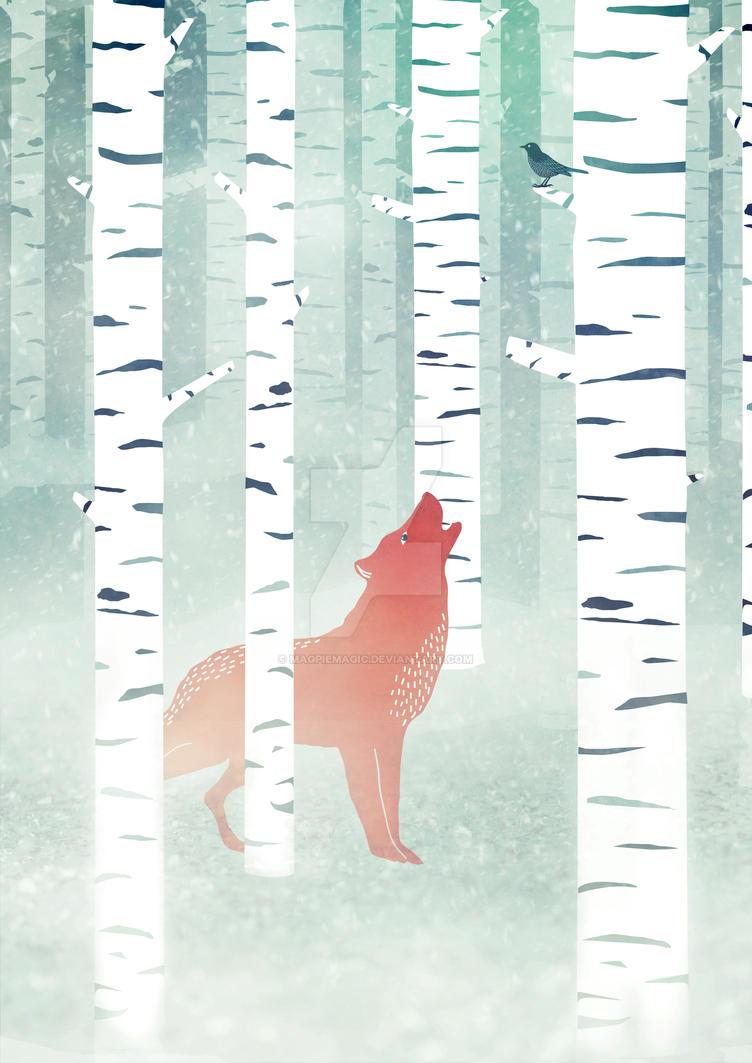 Winter Fox by MagpieMagic