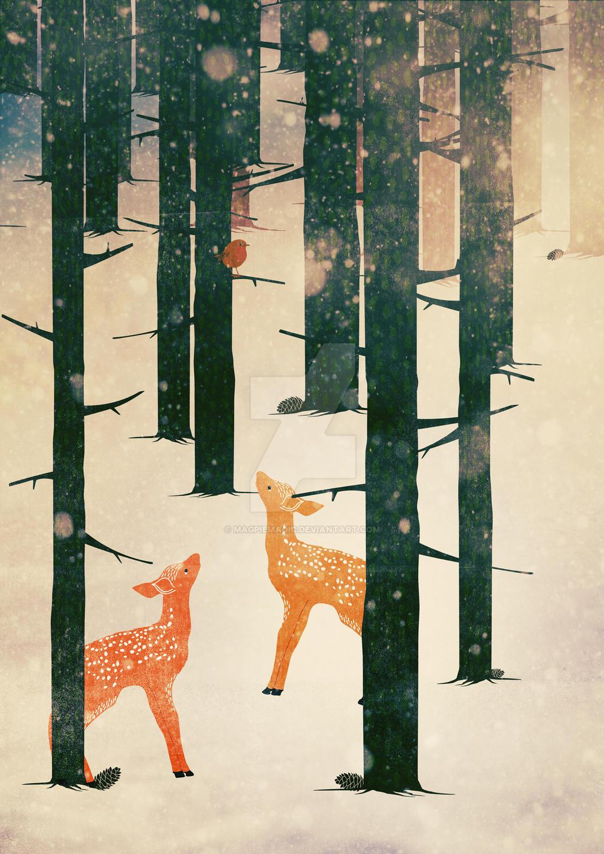 Winter Deer by MagpieMagic