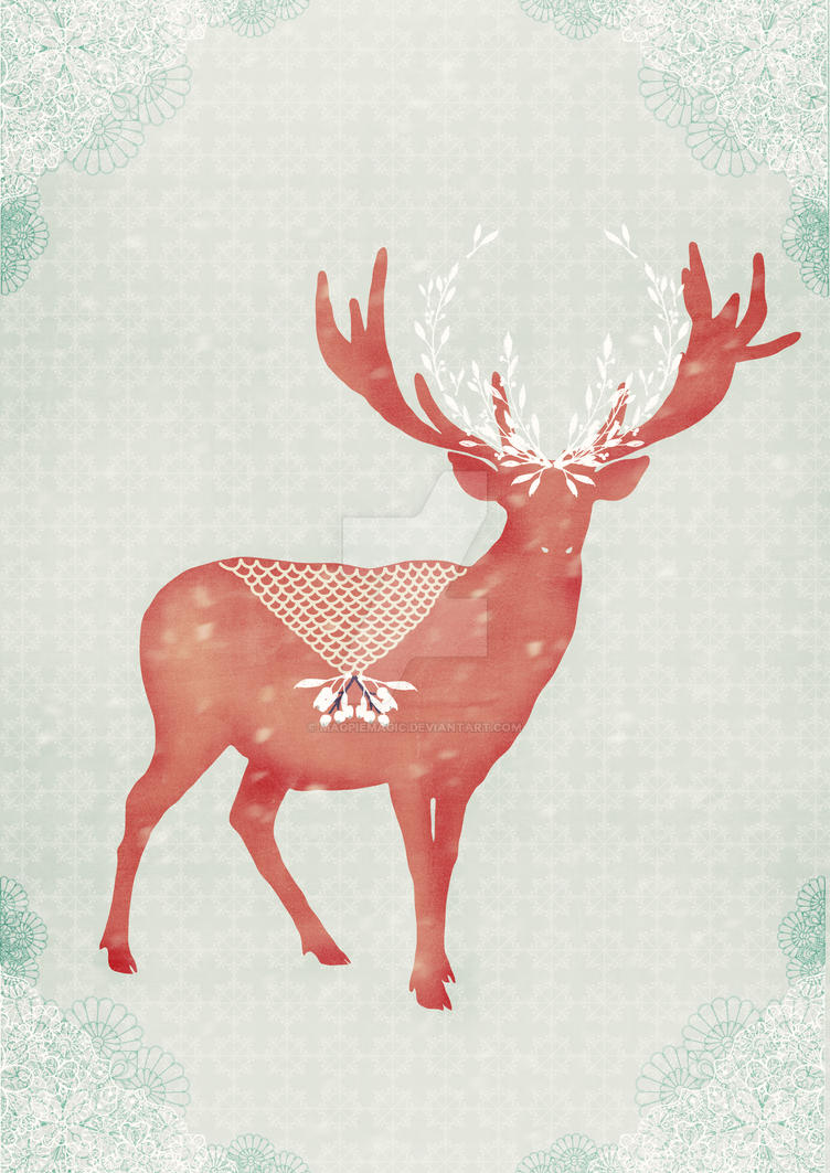 Christmas Stag (c)sybillesterk by MagpieMagic