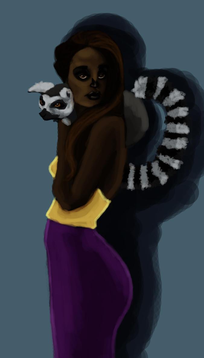 Lemur Lover Coloured by Sorayazinha22