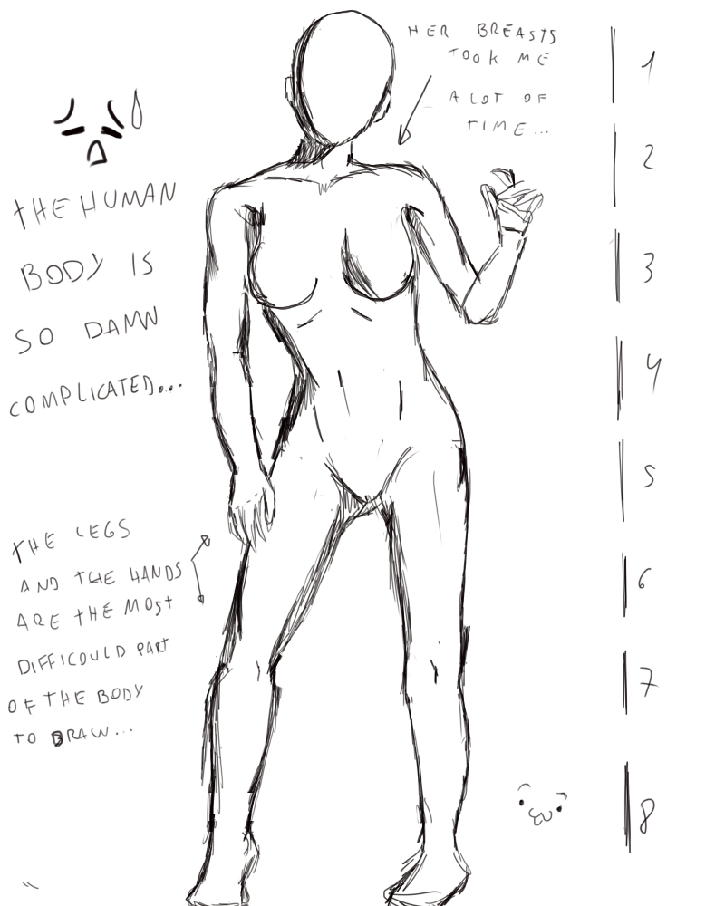 Female anatomy practice 1 by RikuBlindFox on DeviantArt