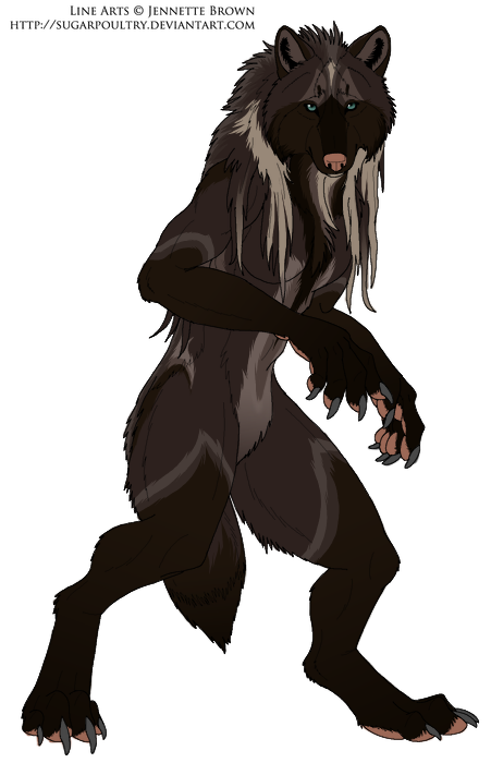 Hollow werewolf form by dNiseb on DeviantArt