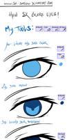 How I color eyes c: