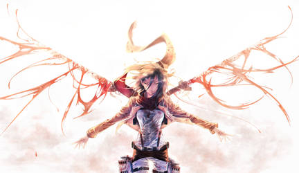 :-- Using weapons to get freedom --: Snk ---Mikasa