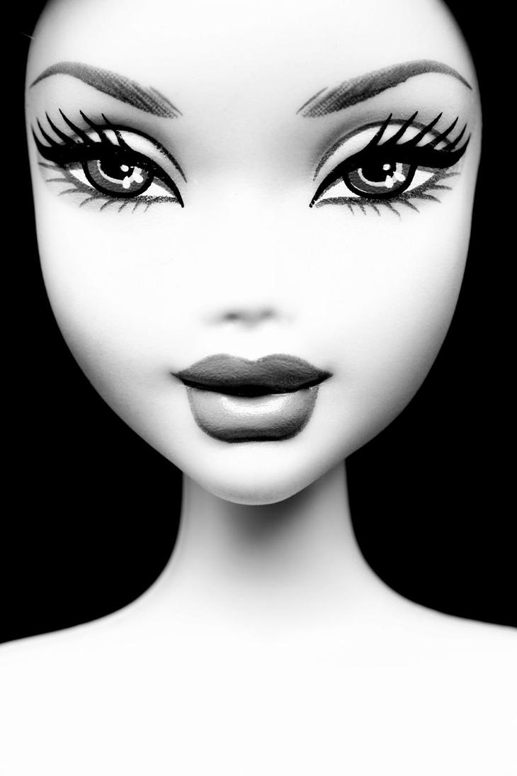 Pictures Of Barbie Face Black And White Wwwkidskunstinfo