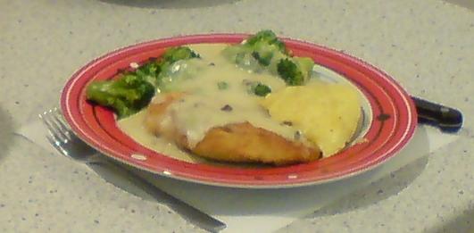 Evening Schnitzel with Broccoli by Vandarque