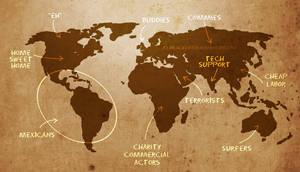 American World Map
