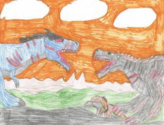Alloindosaurus Vs TraumaTyrannus