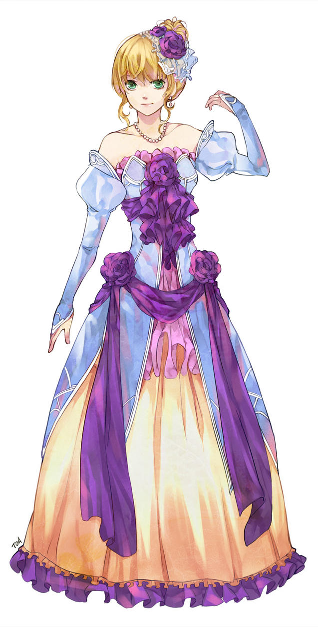 Symphoria: Ball Gown colored by tooaya on DeviantArt