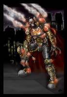 Batman Steampunk - color by inkdropstudio
