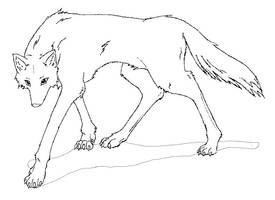 Wolf Lineart by Marnaynna