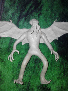 Cthulhu (clay sculpture)