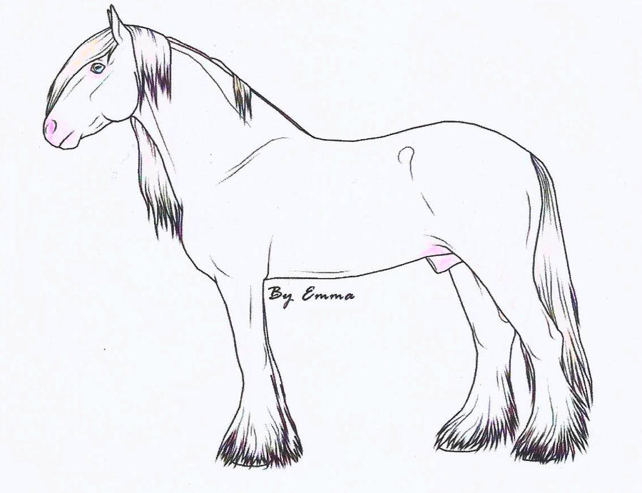 Mgypsy Vanner Coloring Sheets
