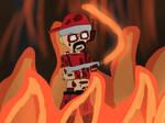 Burning the cinema down! (Gore warning)