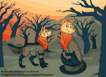 Birrtain based canine adoptables - burnt forest -X