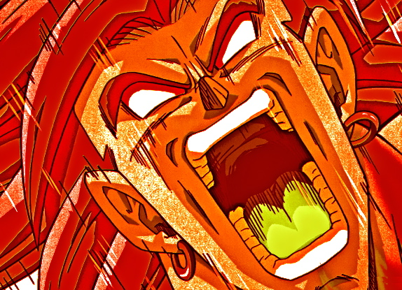 Broly Scary Face by Darkorias