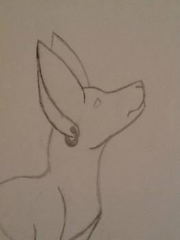 random dog with earring