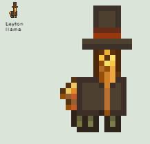 Professor Layton llama by theneopetmaster